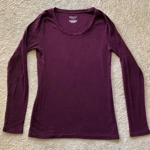 Merona Long Sleeve Scoop Neck Cotton Top Like New